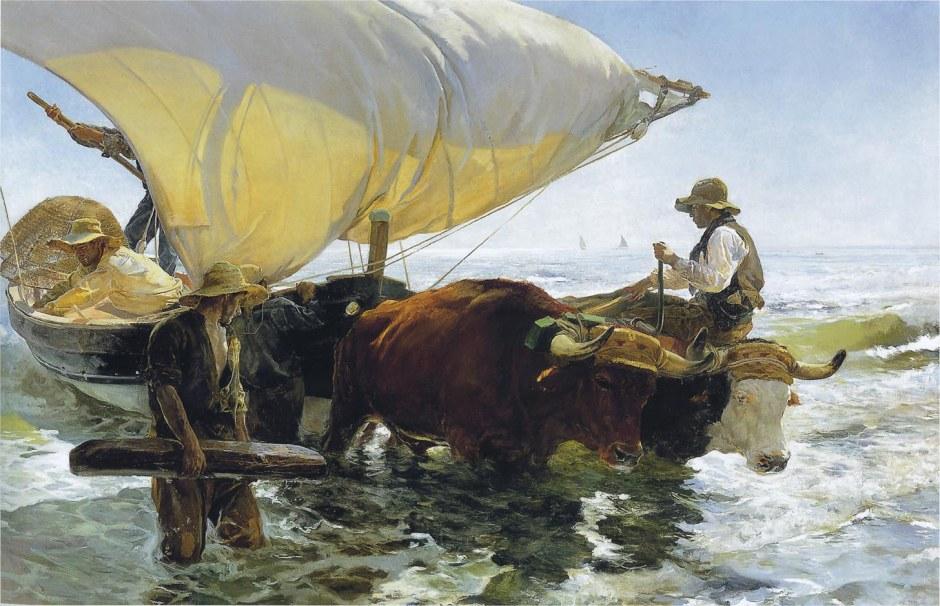 1894-SOROLLA-Retour de la pêche . halage de la barque, 265 x 403,5cm (Musée d´Orsay, Paris)