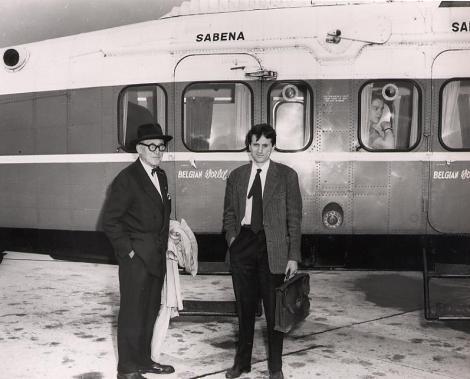 Xenakis et Le Corbusier, vers 1955.