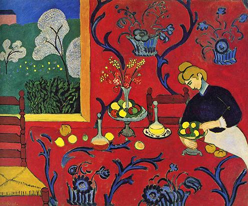 harmony-in-red-armonía en rojo estilo expresionista expresionismo Henri Matisse 1908 frases citas phrases quotes-495
