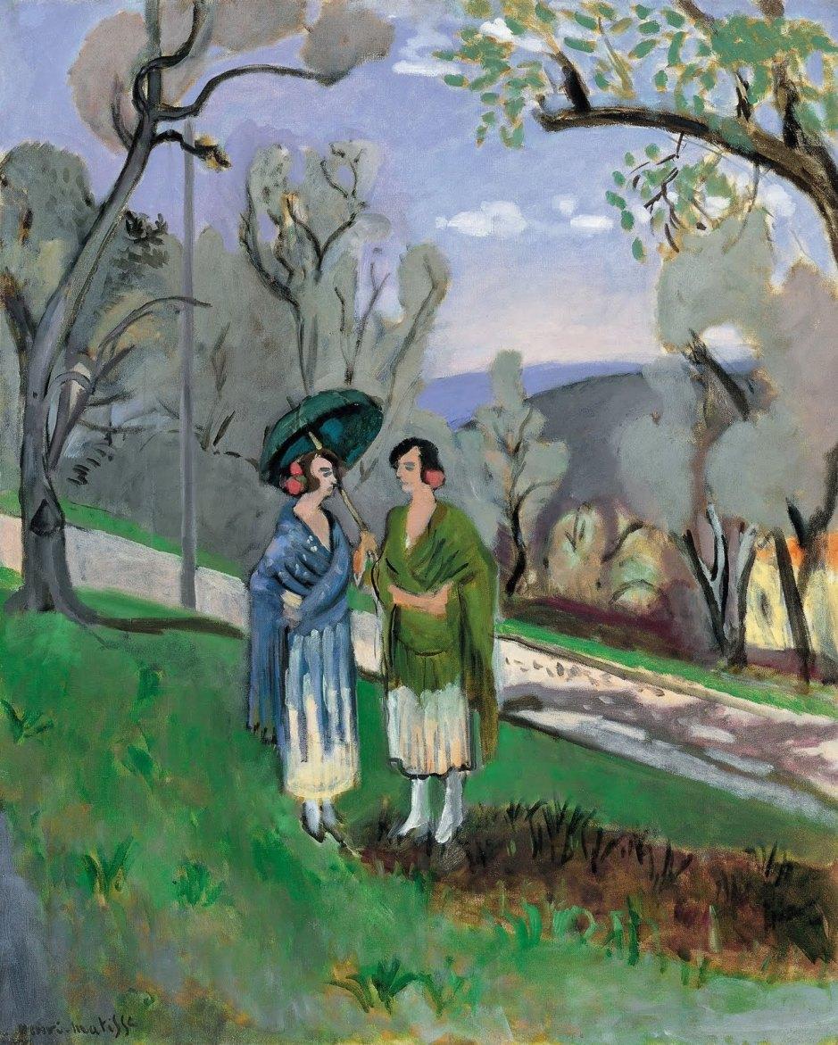 Matisse conversacion bajo los olivos