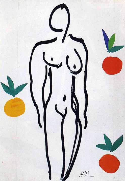 nude-with-oranges-1951 desnudo con naranjas henri matisse frases citas celebres quotes phrases-495