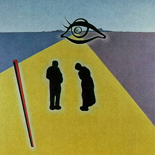 Salvador Dali - The Eye of the Angelus (stereoscopic work, right component_ unfinished), 1978