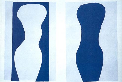 white-torso-and-blue-torso-1944 torso blanco y torso azul expresionismo abstracto henri matisse frases citas quotes phrases-495