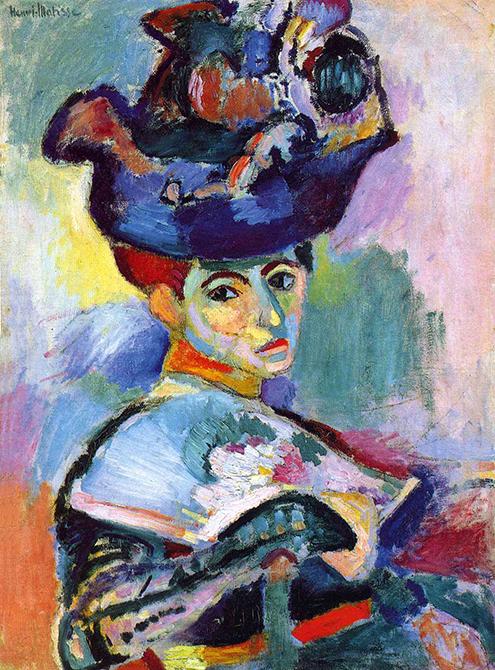 Mujer con sombrero.