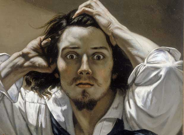 Courbet - Retrato del artista o El desesperado (1845) [Colección privada]