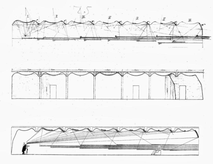 seccion del techo acustico