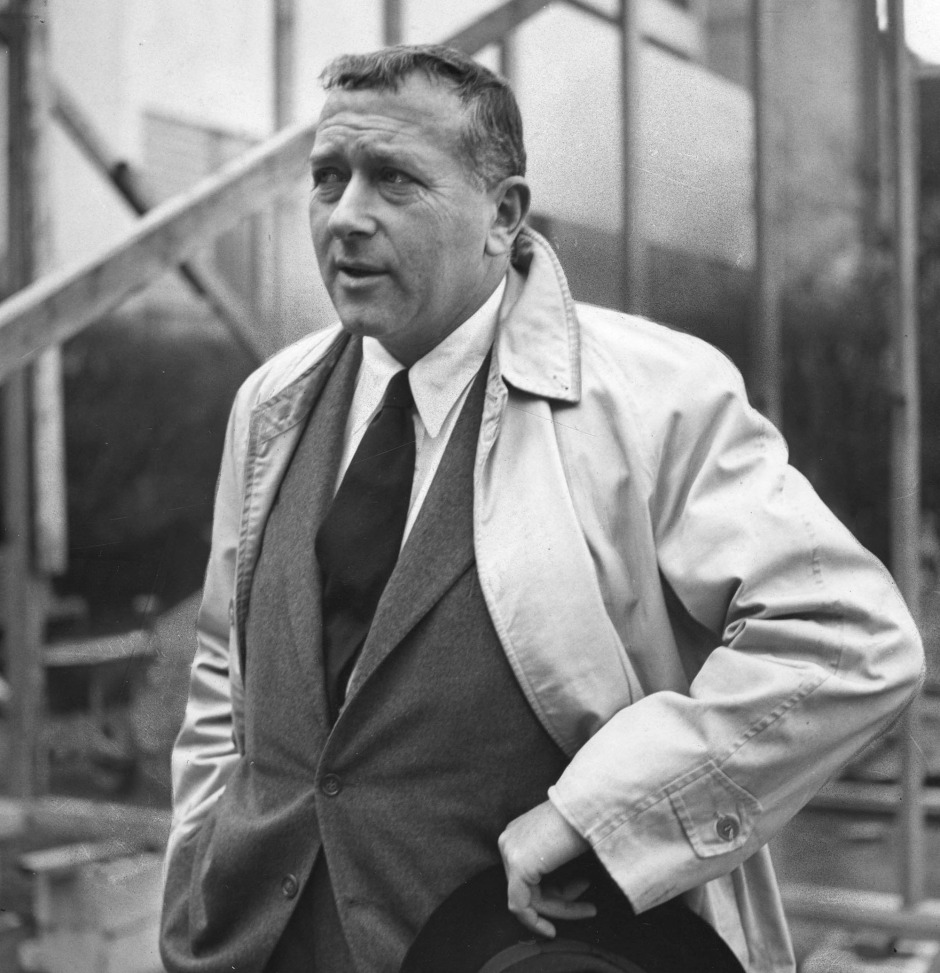 Marcel BREUER, 1902-81, Hungarian Modernist architect, at the site of the House in the Museum Garden at the Museum of Modern Art, New York, January 16, 1949 Photo Credit: [ The Art Archive / Culver Pictures ]