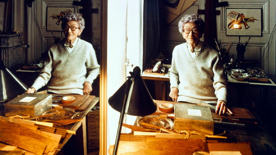 Photograph of Eileen Gray in her studio
