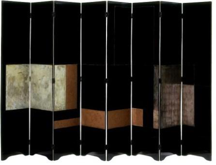 Biombo diseñado por Eileen Gray con la técnica del lacado