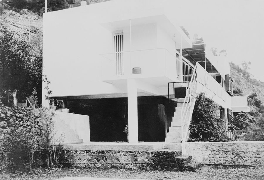 E-1027, the house of Eileen Gray at Roquebrune-Cap-Martin in southeast France. Photograph: courtesy of the National Museum of Ireland