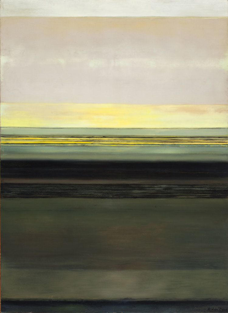 Hedda Sterne, Vertical Horizontal #1 , 1963, Oil on canvas, 96 in. x 70 in.