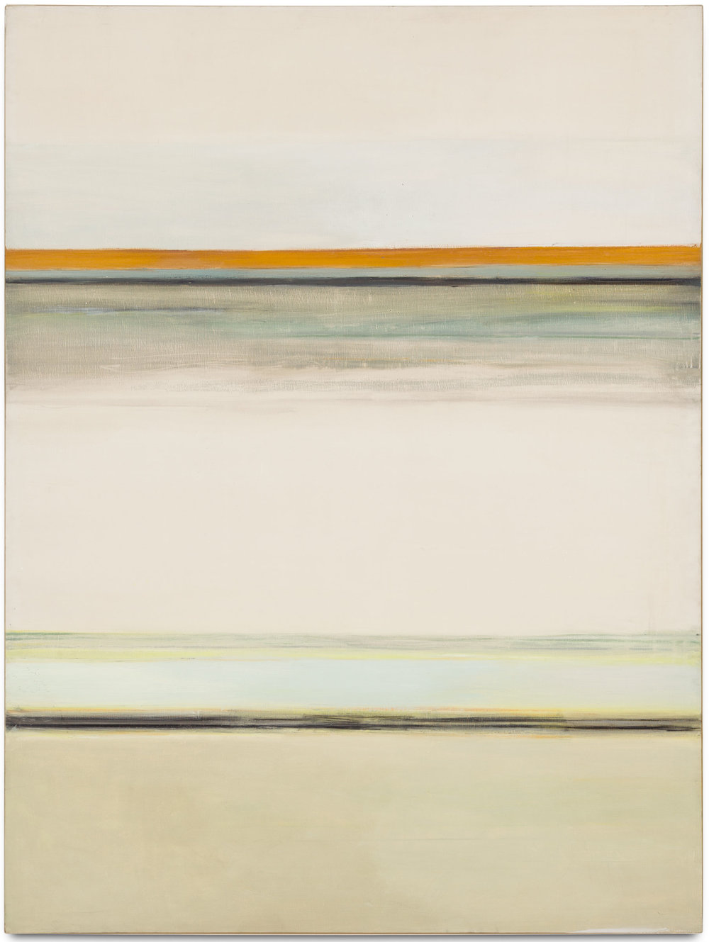 Hedda Sterne, Vertical Horizontal #7 1/2 , 1963, Oil on canvas, 72 in. x 54 in; Private collection